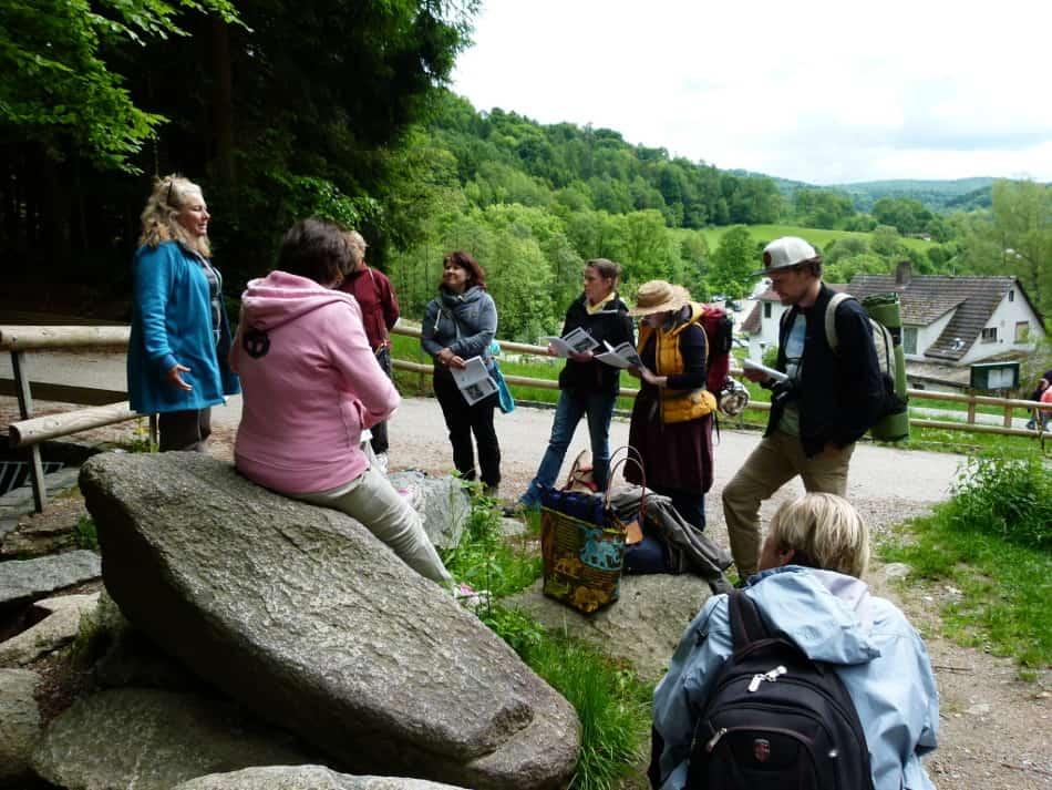 Geomanstische Wanderungen mit Franca Bauer